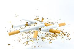 Tobacco of a cigarette Stock Photo