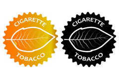 Tobacco cigarette sticker Stock Image