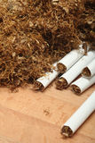 Tobacco and cigarettes Royalty Free Stock Images