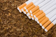 Tobacco and cigarettes 2 Royalty Free Stock Images