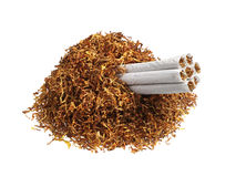 Tobacco and cigarettes Royalty Free Stock Photography