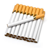 Tobacco cigarettes isolated on a white Stock Photo