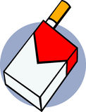 tobacco cigarettes pack vector illustration Royalty Free Stock Image