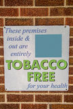 Tobacco free area sign Stock Photos