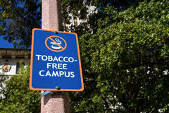 Tobacco Free Campus Sign Royalty Free Stock Images