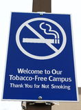 Smoke Free Zone Sign Stock Image