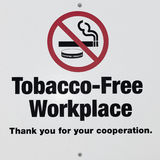 Tobacco Free Workplace/No Smoking sign Royalty Free Stock Images