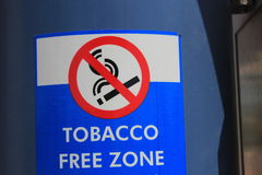 Tobacco Free Zone Stock Images