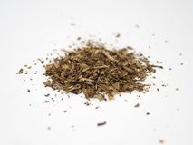 Tobacco pile isolated on a white surface and background royalty free stock images