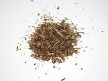 Tobacco pile isolated on a white surface and background stock photography