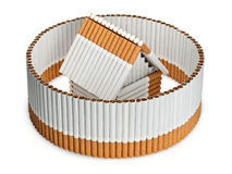 The tobacco house in a cigarette fence Stock Image