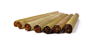 Tobacco isolated on white background. Stock Photos