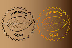 Tobacco leaf sticker Stock Images