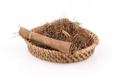Tobacco leaves were dried, cut into small strips called line tobacco. Royalty Free Stock Image