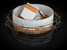 Tobacco, nicotinic dependence Stock Image