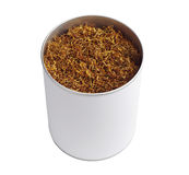 Tobacco in opened jar Stock Photo