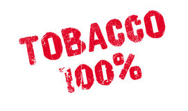 Tobacco 100 percent rubber stamp. Grunge design with dust scratches. Effects can be easily removed for a clean, crisp look. Color is easily changed Stock Illustration