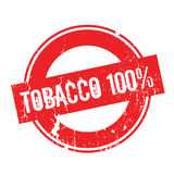 Tobacco 100 percent rubber stamp. Grunge design with dust scratches. Effects can be easily removed for a clean, crisp look. Color is easily changed Vector Illustration