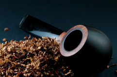 Tobacco and pipe Royalty Free Stock Images