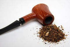 Tobacco and pipe Stock Photography