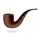 Tobacco pipe. Vector tobacco pipe isolated on white Stock Image