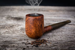 Tobacco pipe from briar Stock Image