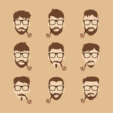Tobacco pipe hipster guy Royalty Free Stock Photography