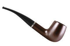 Tobacco pipe isolated on white Stock Image