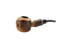 Tobacco pipe isolated on white background Stock Images