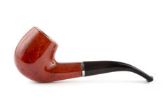 Tobacco pipe over white Royalty Free Stock Photo