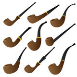 Tobacco pipe set Stock Photo
