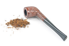 Tobacco pipe and tobacco Royalty Free Stock Photos