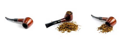 Tobacco-pipe and tobacco Royalty Free Stock Image