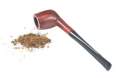 Tobacco pipe and tobacco Royalty Free Stock Image