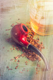 Tobacco Pipe and Whisky Stock Images