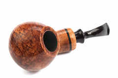 Tobacco pipe. On a white background Stock Image