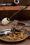 Tobacco pipes and accessories for smoking Royalty Free Stock Image