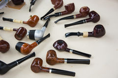 Tobacco pipes Stock Images