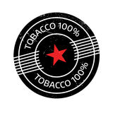 Tobacco 100 rubber stamp Stock Image