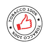 Tobacco 100 rubber stamp Stock Photos
