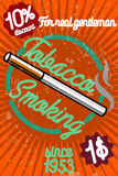 Tobacco shop banner Royalty Free Stock Image