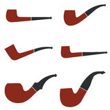 Tobacco smoking pipe set Royalty Free Stock Image