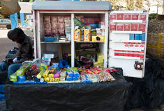 Tobacco stand in Bamako Royalty Free Stock Photos