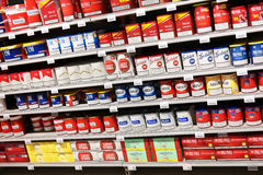 Tobacco store Stock Images