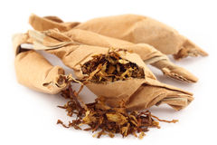 Tobacco in twisted paper Royalty Free Stock Photography