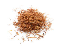 Tobacco  on white Royalty Free Stock Image