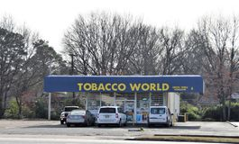 Tobacco World, Memphis, TN. Tobacco World Smoke Shop is the newest Head Shop store in the Memphis area. Whether you are an experienced vaper, a smoker who royalty free stock photography