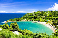 Tobago. Parlatuvier Bay in Tobago, Caribbean Stock Image