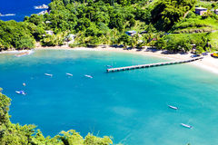 Tobago. Parlatuvier Bay in Tobago, Carribean Stock Photo
