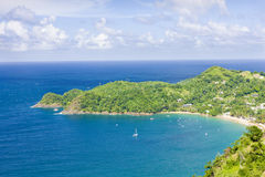 Tobago. Castara Bay in Tobago, Caribbean Stock Photos
